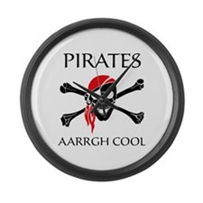 Pirates aarrgh cool Large Wall Clock