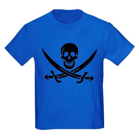 Pirate Skull Kids Dark T-Shirt