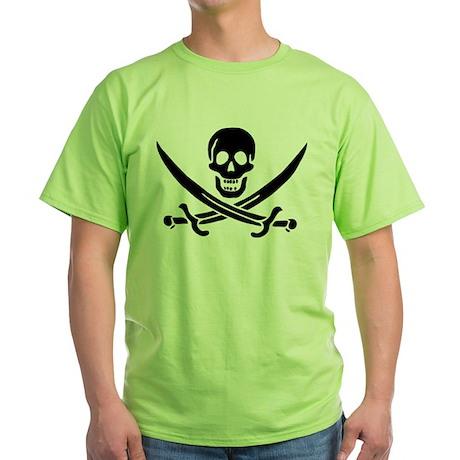 Pirate Skull Green T-Shirt