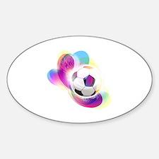 Soccer Sticker (Oval)