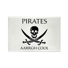 Pirate aarrgh cool Rectangle Magnet (100 pack)