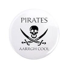 "Pirate aarrgh cool 3.5"" Button"
