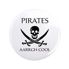"""Pirate aarrgh cool 3.5"""" Button (100 pack)"""