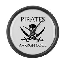 Pirate aarrgh cool Large Wall Clock