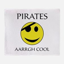 Pirate aarrgh cool Throw Blanket