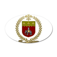 SONNIER Family Crest 22x14 Oval Wall Peel
