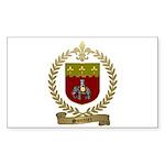 SONNIER Family Crest Sticker (Rectangle 50 pk)