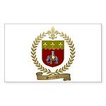 SONNIER Family Crest Sticker (Rectangle 10 pk)