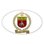 SONNIER Family Crest Sticker (Oval 10 pk)