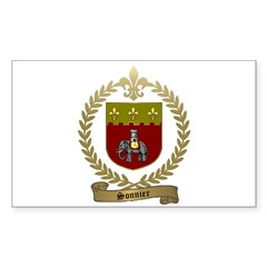 SONNIER Family Crest Sticker (Rectangle)