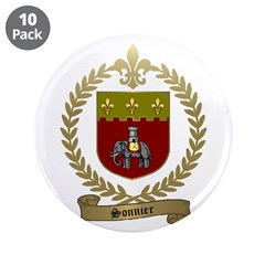 "SONNIER Family Crest 3.5"" Button (10 pack)"