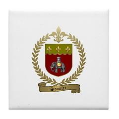 SONNIER Family Crest Tile Coaster