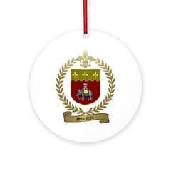 SONNIER Family Crest Ornament (Round)