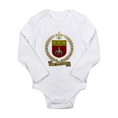 SONNIER Family Crest Long Sleeve Infant Bodysuit