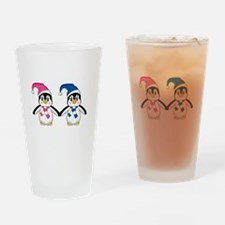 Cute Penguins Drinking Glass