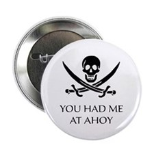 """Pirate Ahoy 2.25"""" Button (10 pack)"""