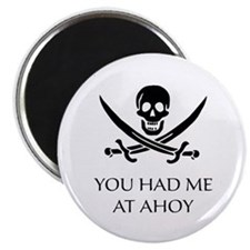 """Pirate Ahoy 2.25"""" Magnet (100 pack)"""