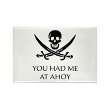 Pirate Ahoy Rectangle Magnet (10 pack)