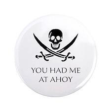 "Pirate Ahoy 3.5"" Button"