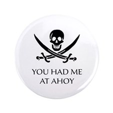 """Pirate Ahoy 3.5"""" Button (100 pack)"""