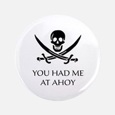 "Pirate Ahoy 3.5"" Button (100 pack)"