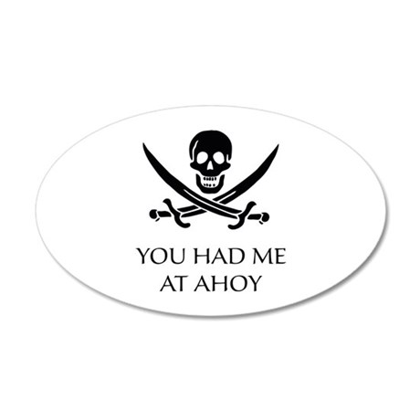 Pirate Ahoy 38.5 x 24.5 Oval Wall Peel
