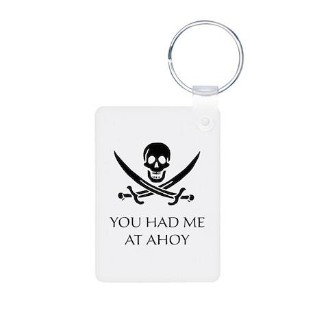 Pirate Ahoy Aluminum Photo Keychain