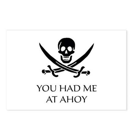 Pirate Ahoy Postcards (Package of 8)