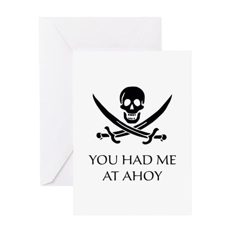 Pirate Ahoy Greeting Card