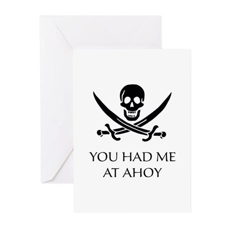 Pirate Ahoy Greeting Cards (Pk of 20)