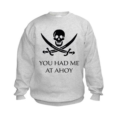 Pirate Ahoy Kids Sweatshirt