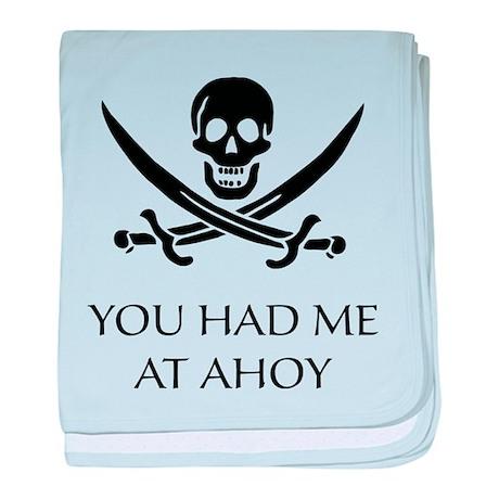 Pirate Ahoy baby blanket