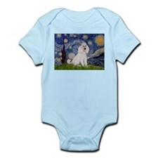 Starry Night White Poodle Infant Bodysuit