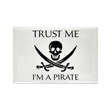 Trust Me I'm a Pirate Rectangle Magnet (10 pack)