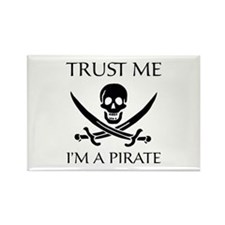 Trust Me I'm a Pirate Rectangle Magnet (100 pack)