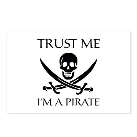 Trust Me I'm a Pirate Postcards (Package of 8)