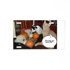 Halloween Boo Cats Aluminum License Plate