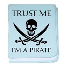Trust Me I'm a Pirate baby blanket