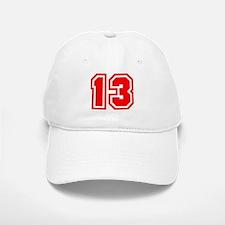 Varsity Uniform Number 13 (Red) Baseball Baseball Cap