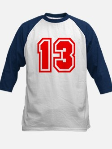 Varsity Uniform Number 13 (Red) Tee