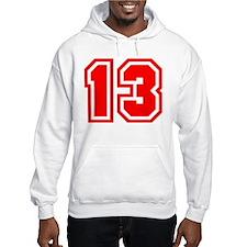 Varsity Uniform Number 13 (Red) Hoodie Sweatshirt