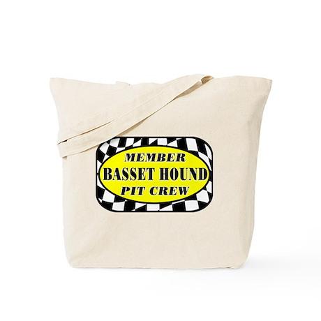 Basset Hound PIT CREW Tote Bag