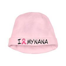 Breast Cancer Pink Ribbon I Love Nana Baby Hat