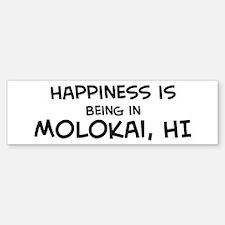Happiness is Molokai Bumper Bumper Bumper Sticker