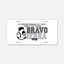 Bravo Sierra Avaition Humor Aluminum License Plate