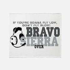 Bravo Sierra Avaition Humor Throw Blanket