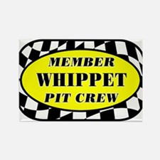 Whippet PIT CREW Rectangle Magnet