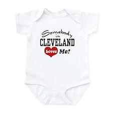 Somebody in Cleveland Loves Me Infant Bodysuit