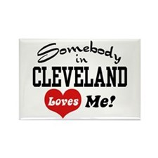 Somebody in Cleveland Loves Me Rectangle Magnet