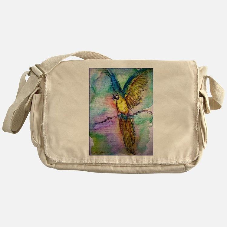 Blue macaw, Messenger Bag